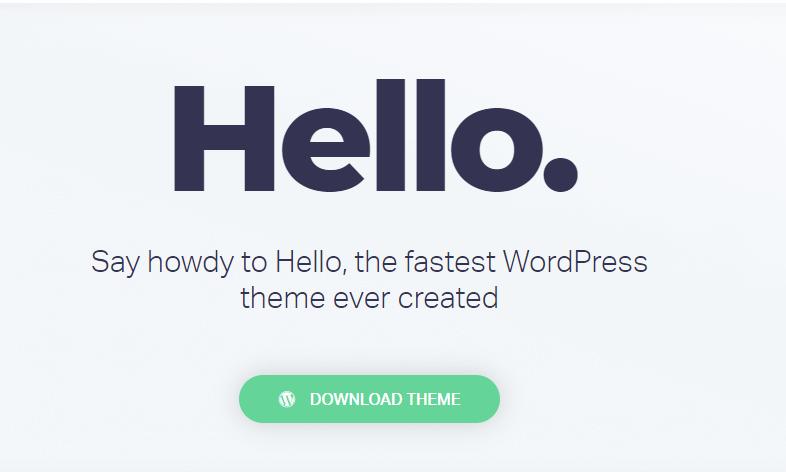 Hello theme for Elementor