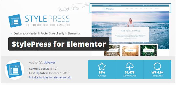 StylePress - Elementor page builder