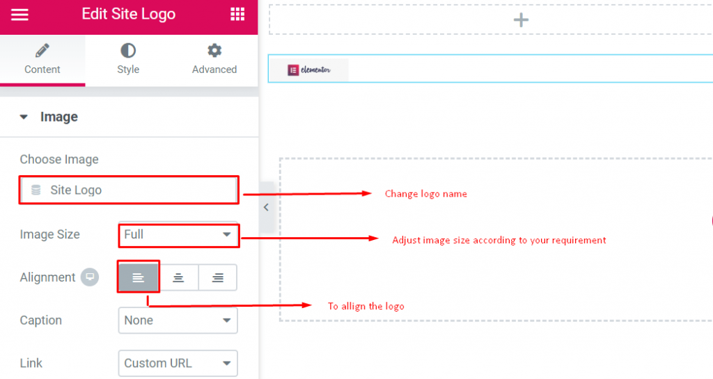 How to configure logo
