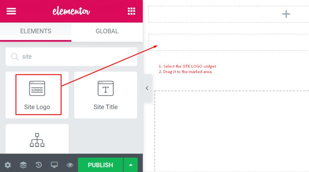 Adding logo to Elementor header