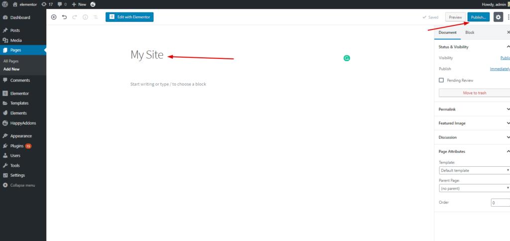 Professional websites