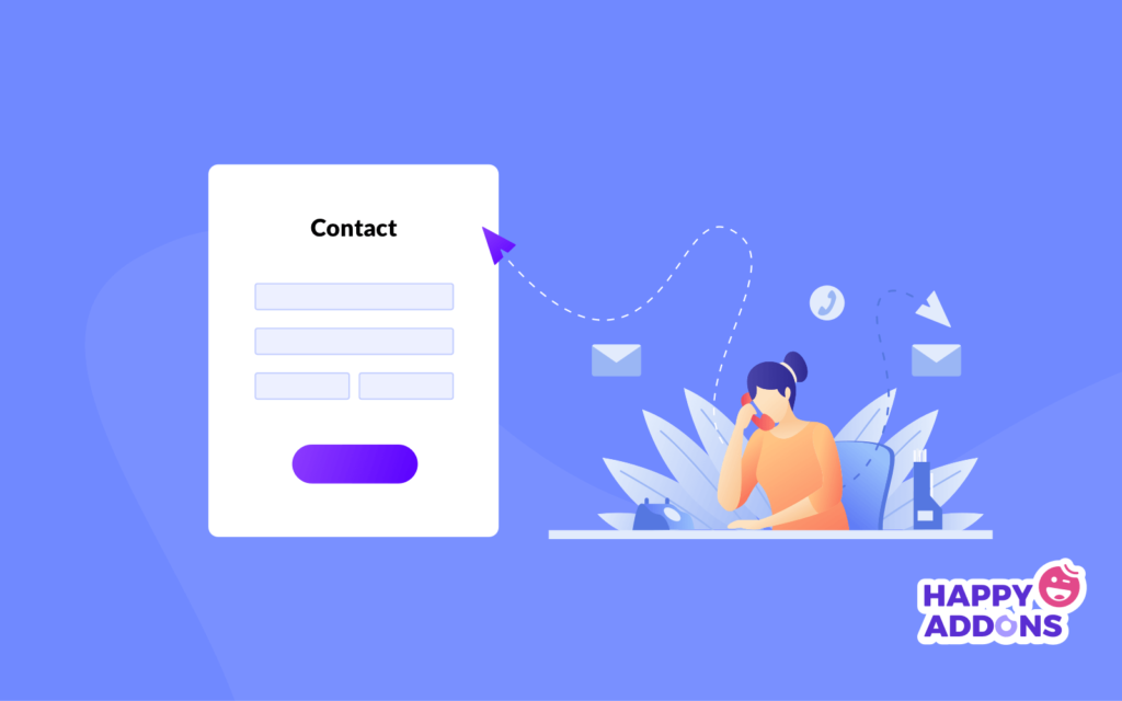 How to create a contact pages with Elementor png