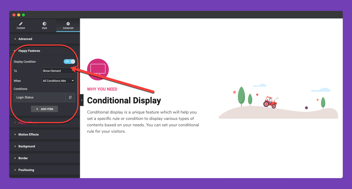 conditional Display