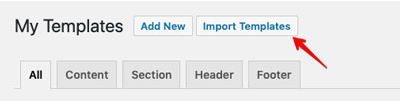 import template:elementor wordpress