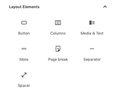 layout elements