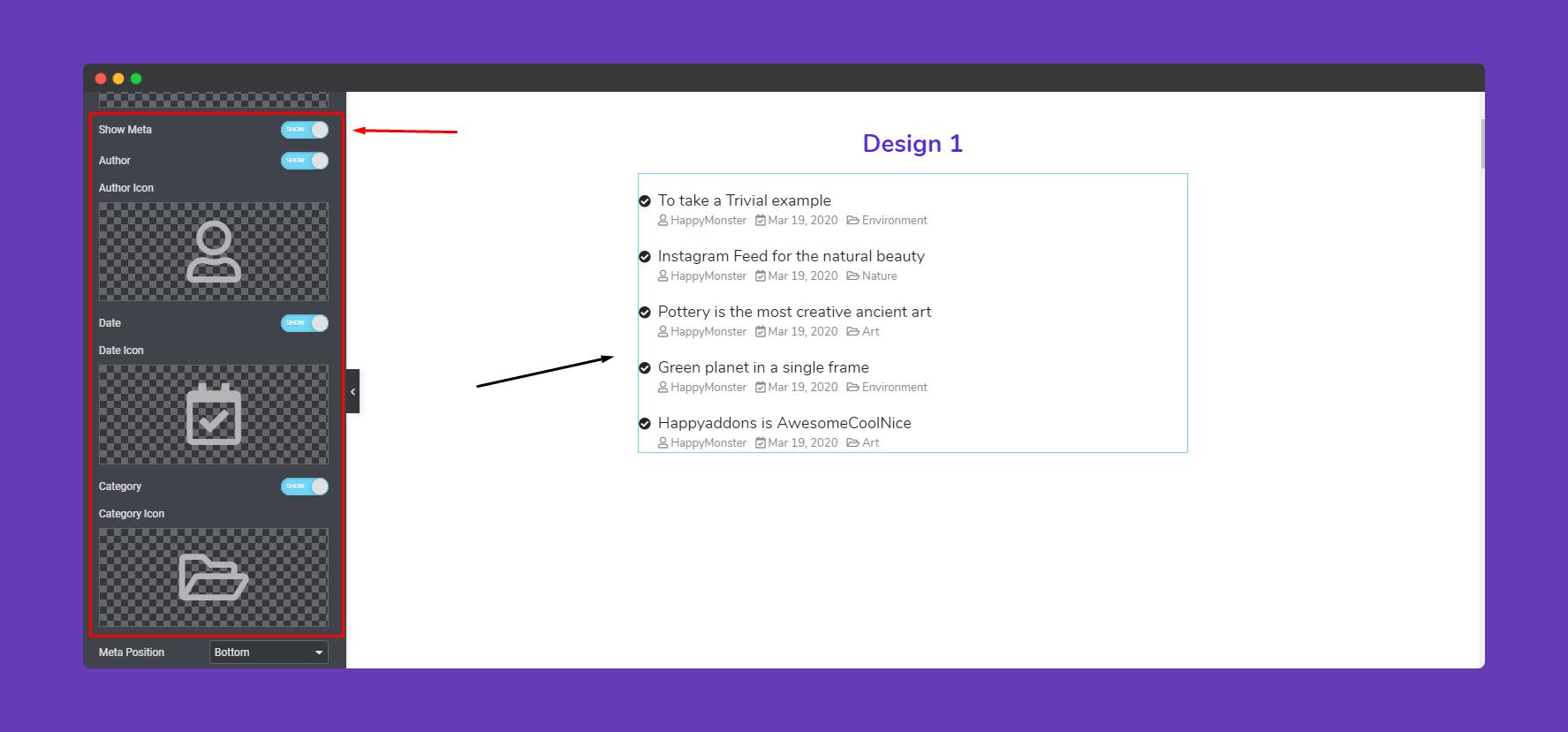 Adding Happy Addons Widget