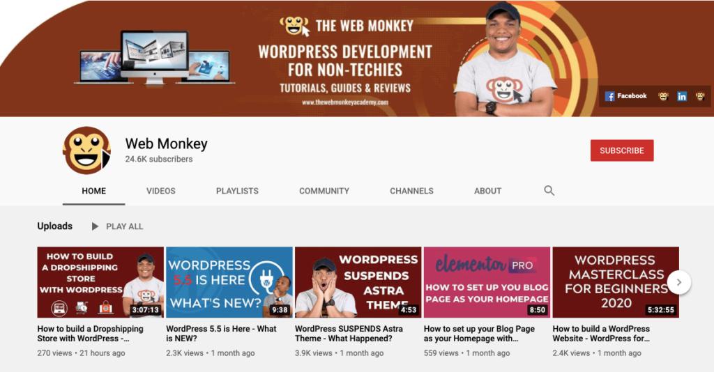 web-monkey-elementor-tutorials