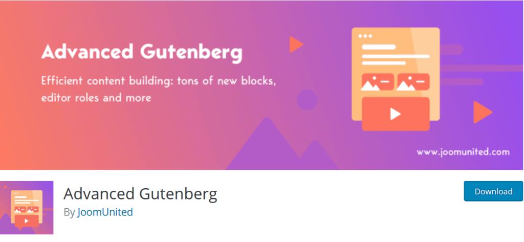 advanced gutenberg block plugin