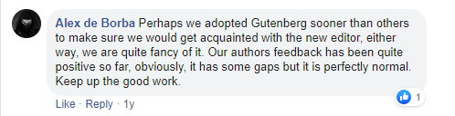 People Primary Reactions about Gutenberg Editor