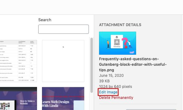 edit image size
