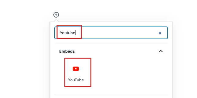 add an youtube video in frequently asked gutenberg questions