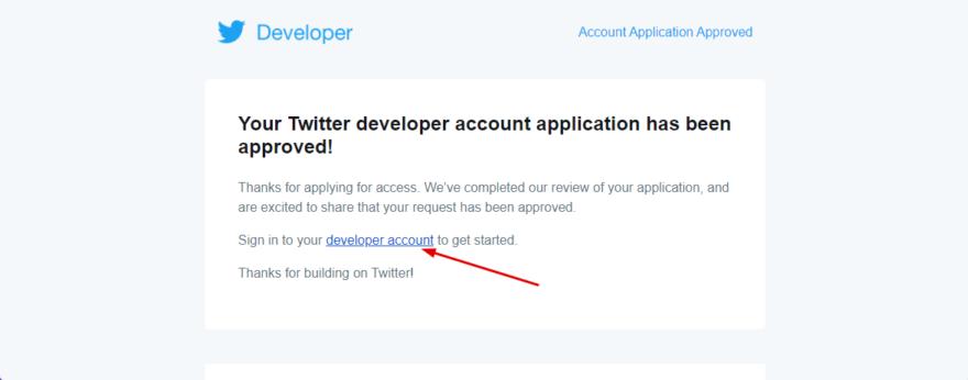 Developer account