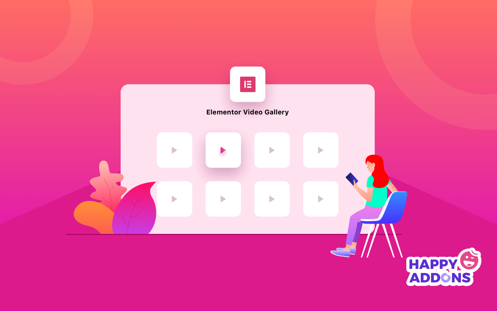 Elementor video gallery