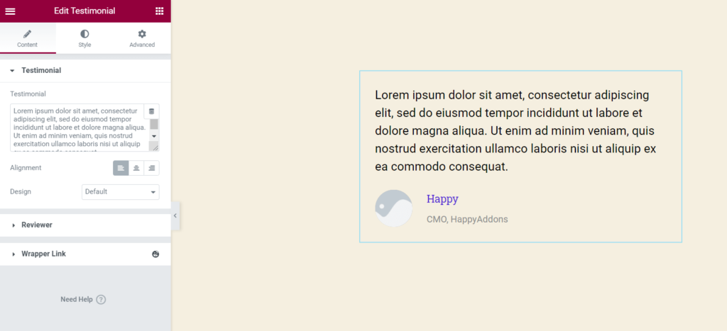 happyaddons-testimonial-widget