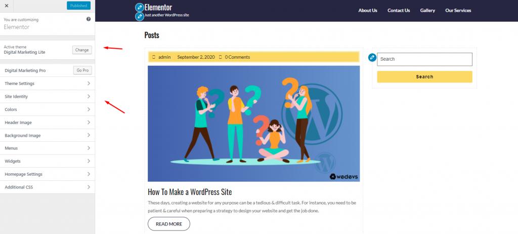 How to customize WordPress theme