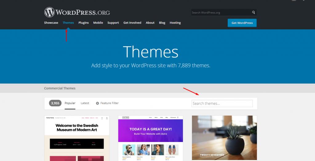 Uploading a WordPress theme