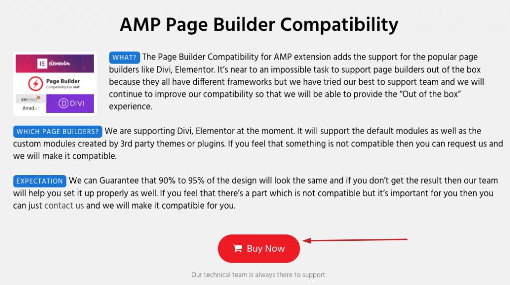 Amp Compatible Website