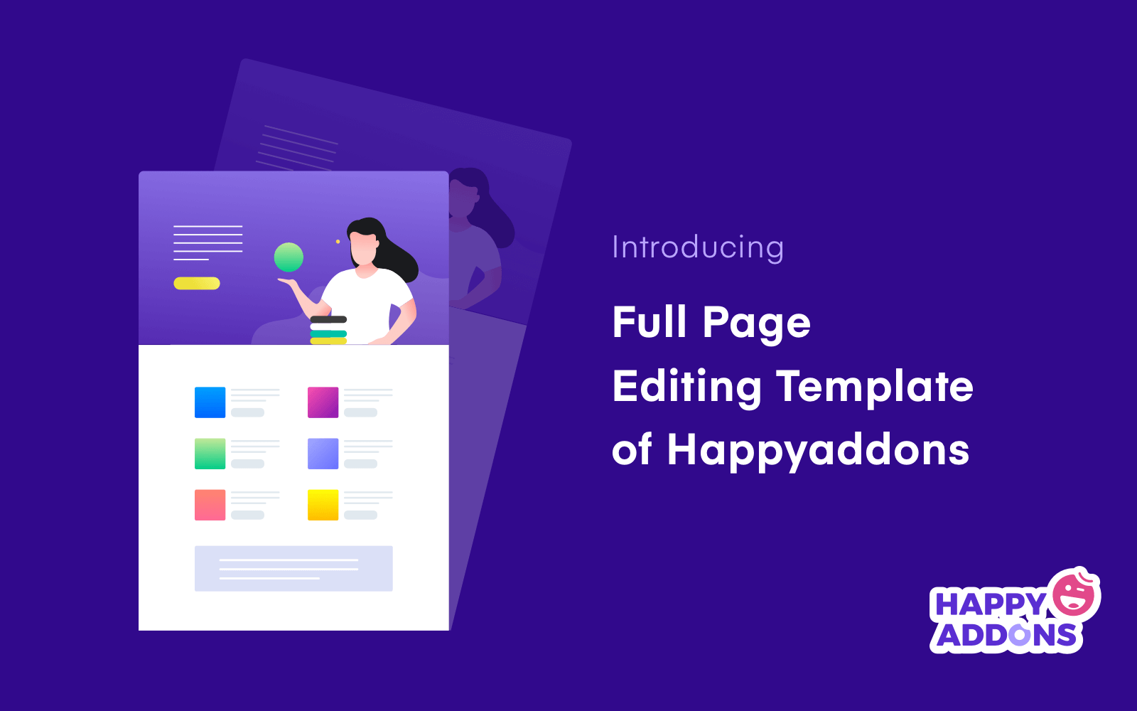 Introducing full page editing template of HappyAddons