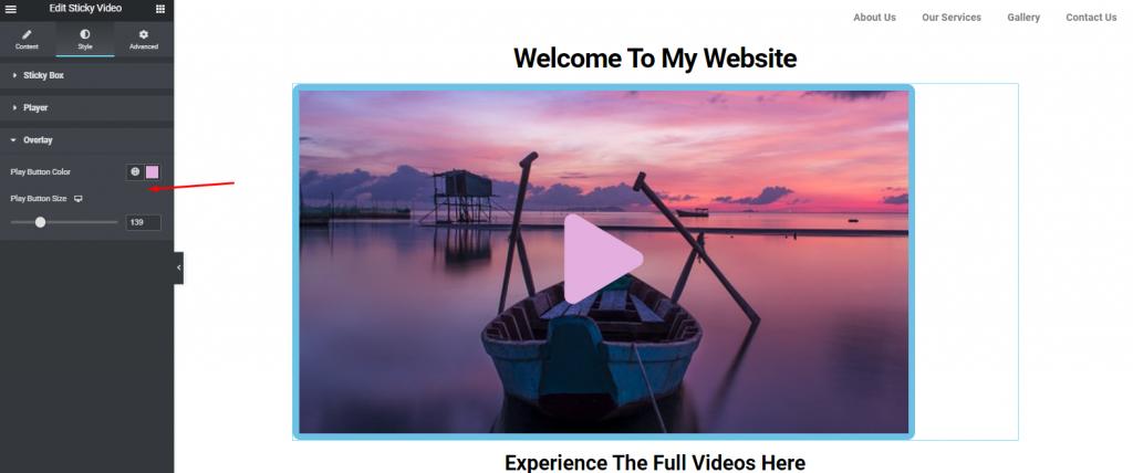 Online Sticky videos
