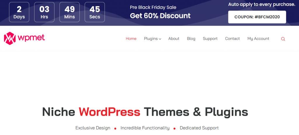 Wpmet- best WordPress black Friday deals