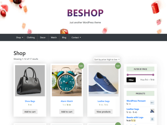 BeShop- Just Another WordPress Theme