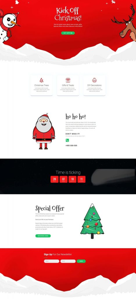 christmas-gift-shop Elementor pro templates