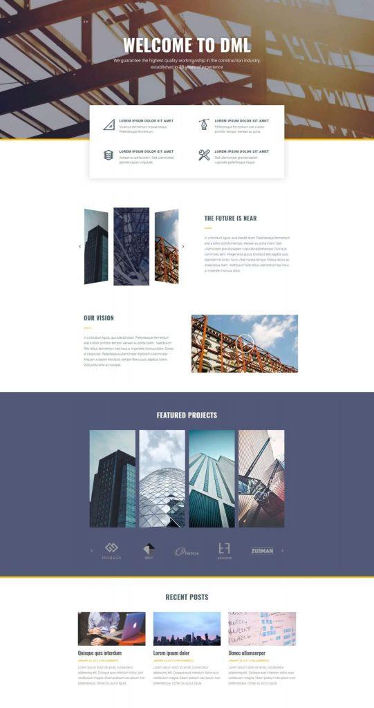 construction-company Elementor pro templates