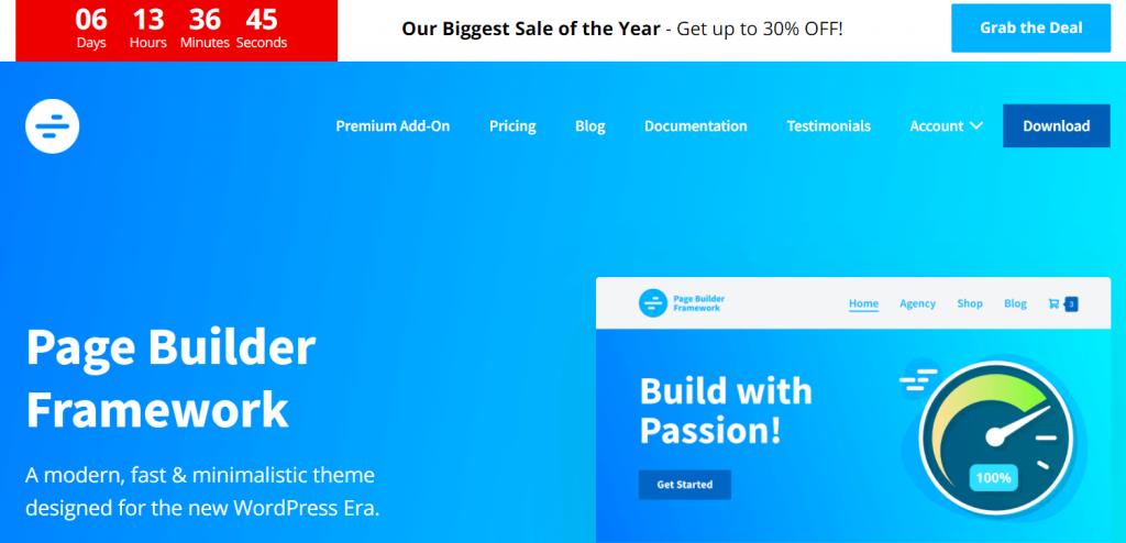 WP Page Builder Framework- $76 Discount