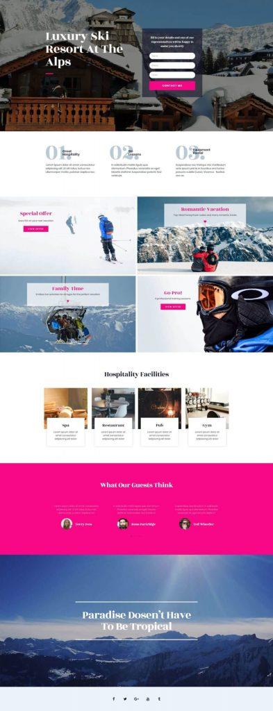 ski-resort-homepage