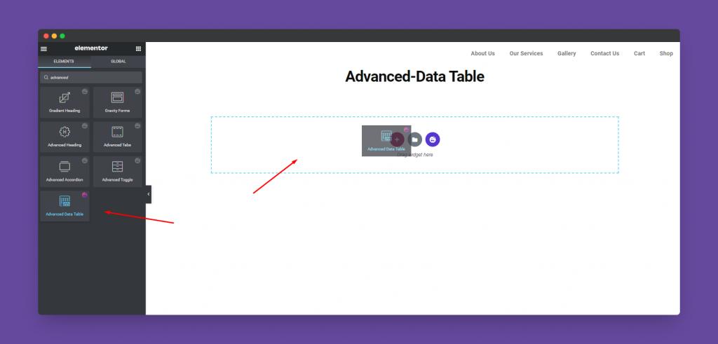 Advanced-Data Table