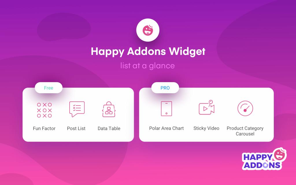 happyaddons widgets
