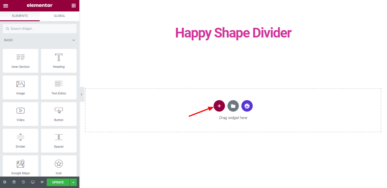 Elementor-Happy-Shape-Divider-Add-Section
