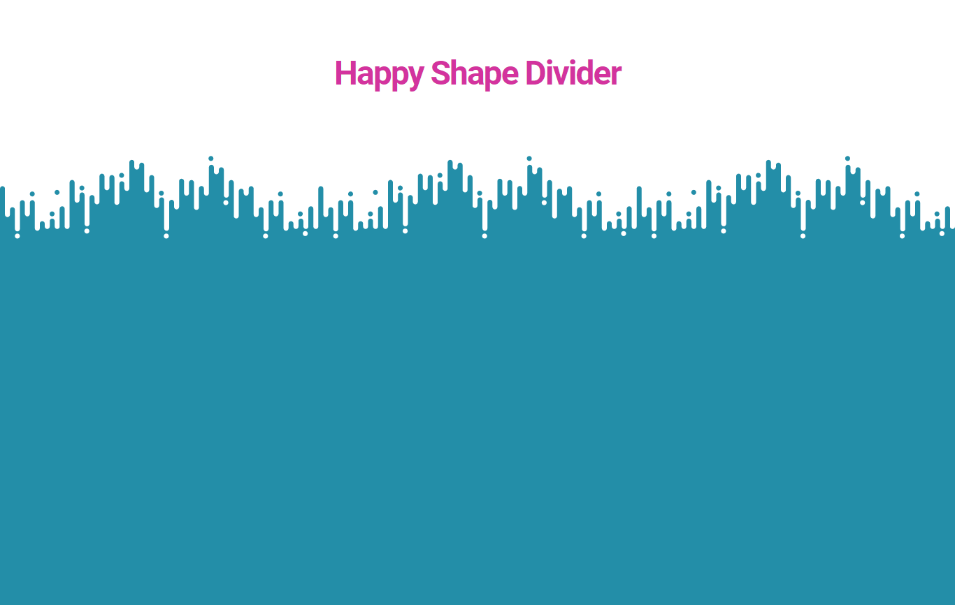 Final preview of our page with Crossline Happy Shape Divider