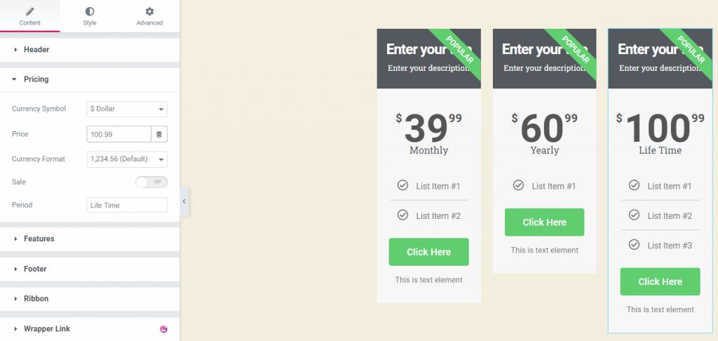 Customize your widget
