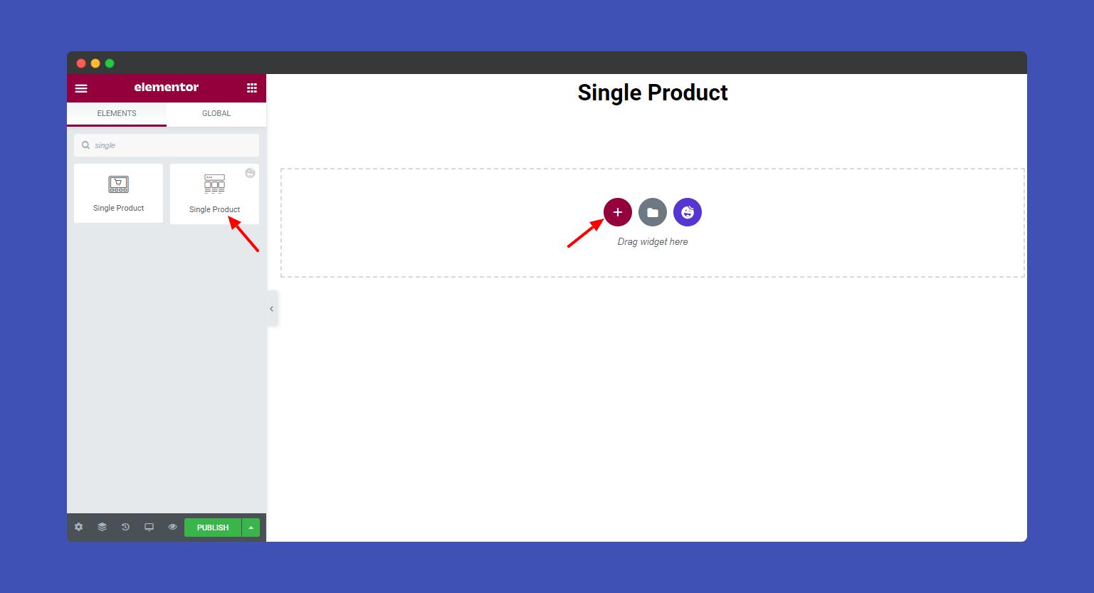 Add Single Product widget