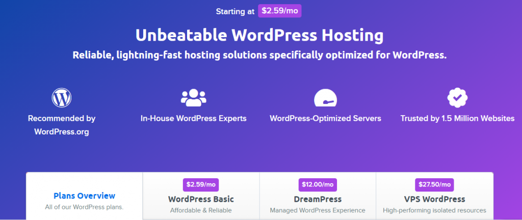 Dreamhost Hosting Plan