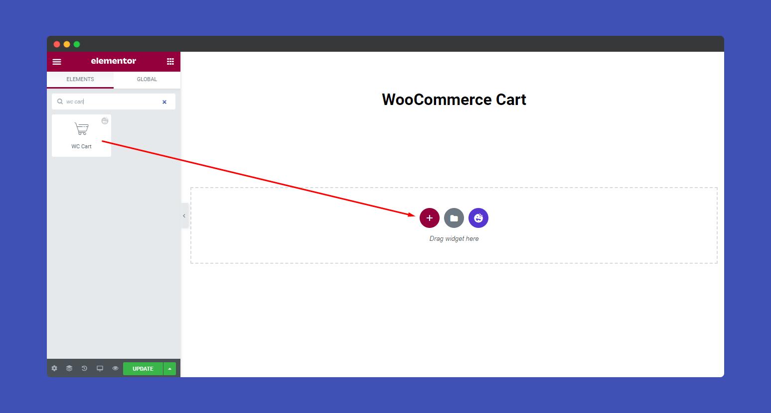 Add WooCommerce Cart widgets
