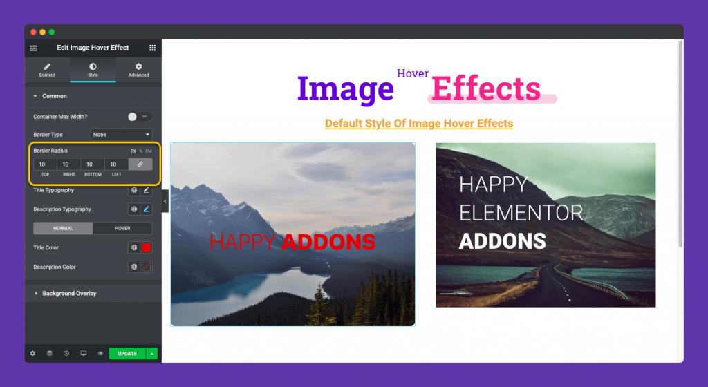 Adding border radius to images