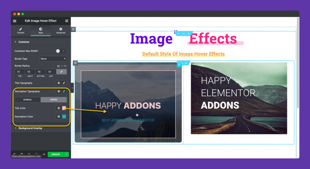 Adding color to hover animation