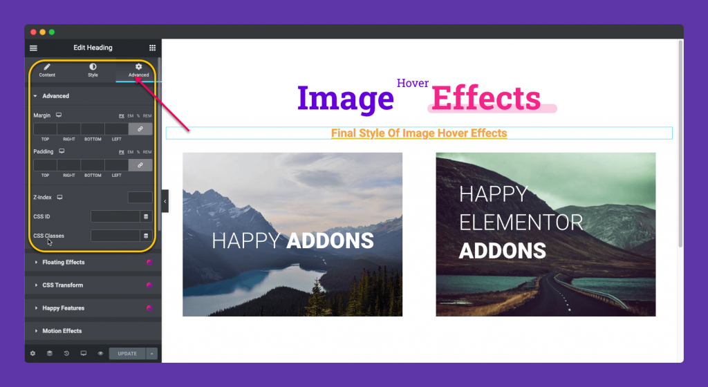Advanced Styling of Image Hover Effect