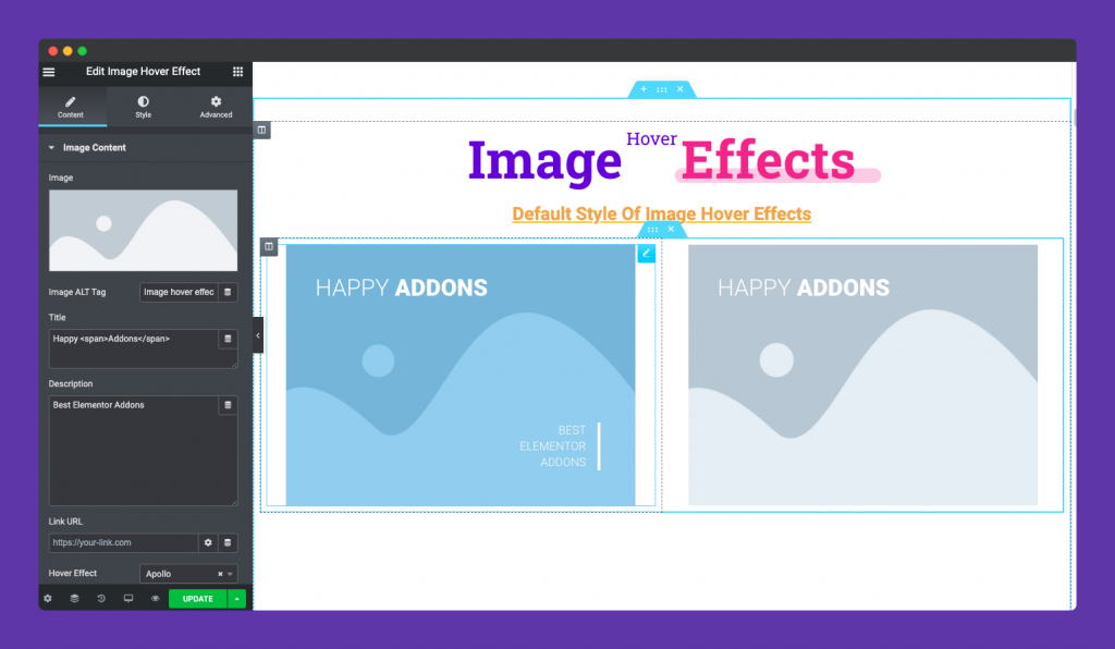 Image Hover Effect Default View