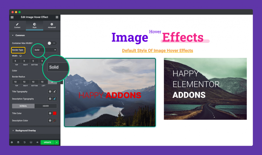 border type of image hover effect