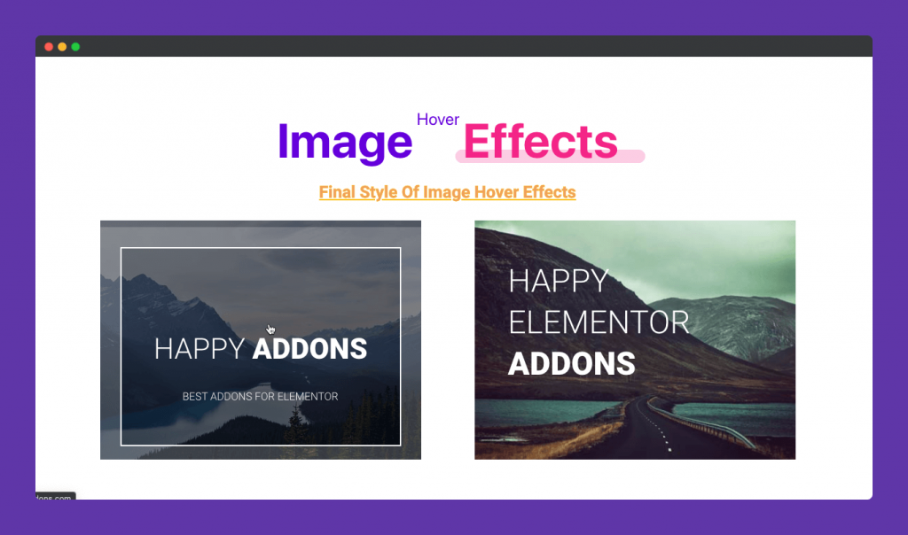 final Effect of Image Hover Effect