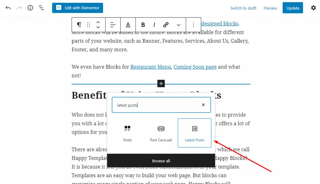 Adding a Gutenberg Block