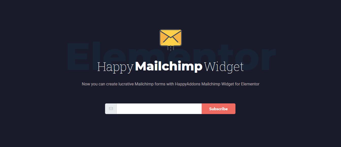 Happy MailChimp Form Widget Preview