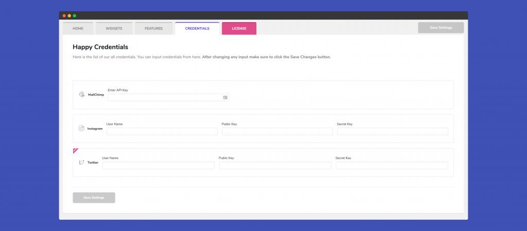 MailChimp API Key 1
