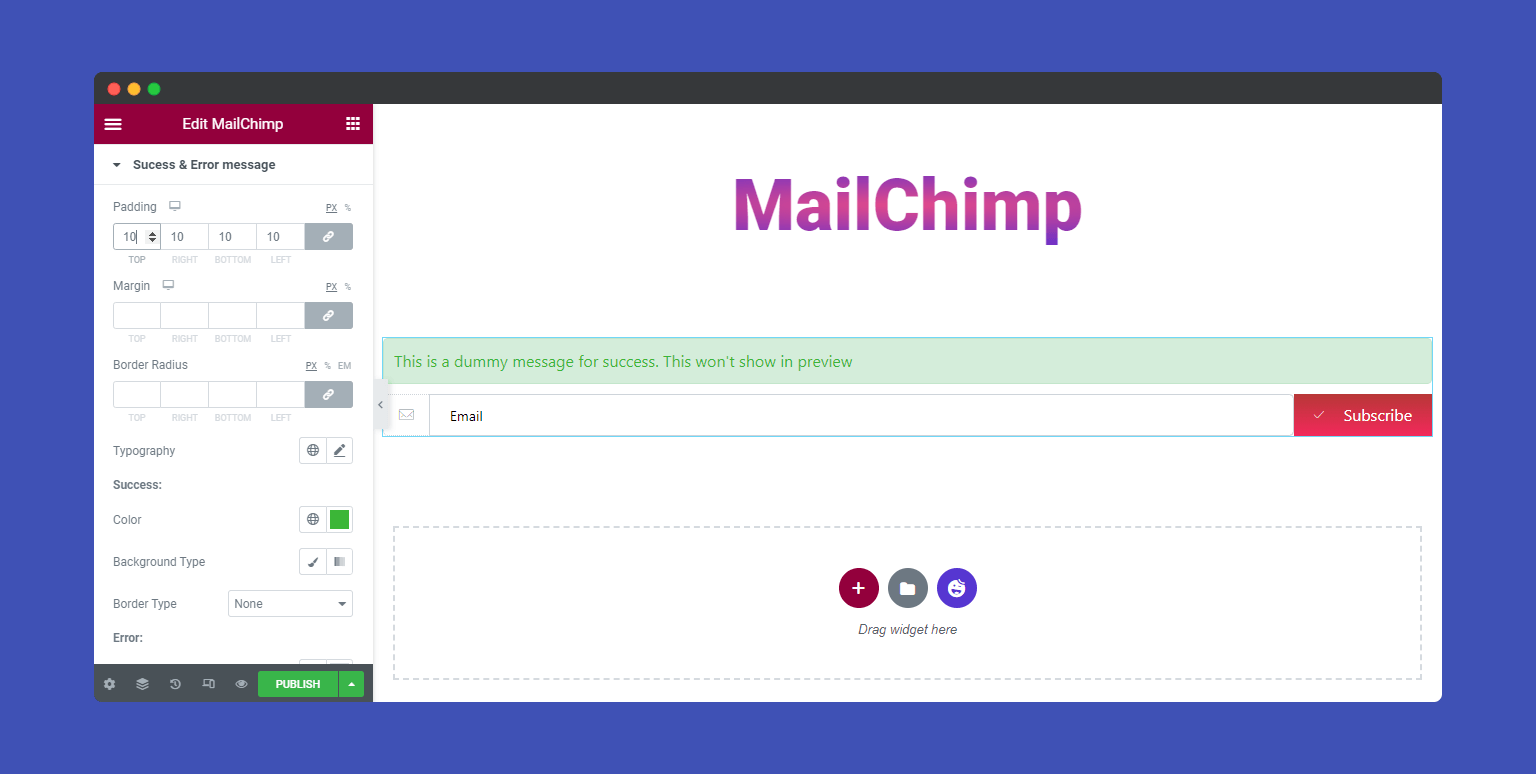 Style MailChimp Message